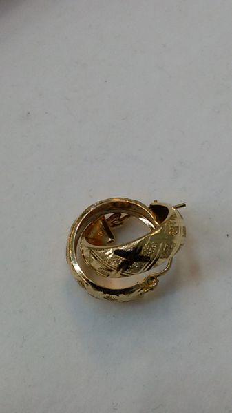 Hoop earrings, lady earrings, yellow Gold, 10 K bbc,.,