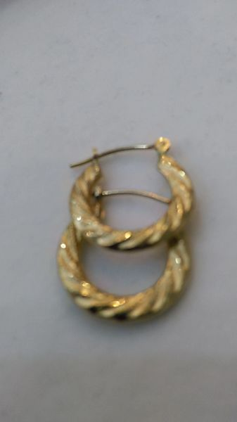 Hoop earrings, lady earrings, yellow Gold, 10 K ,.n.+