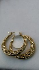 Hoop earrings, lady earrings, yellow Gold, 14K