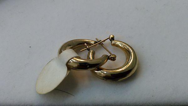 Hoop earrings, lady earrings, yellow Gold, 10 K.,c.f.,x,