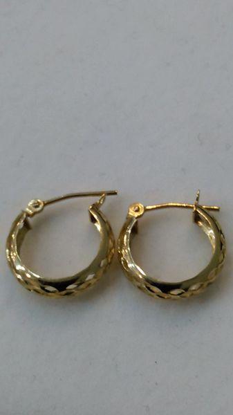 Hoop earrings, lady earrings, yellow Gold, 10 K oiup