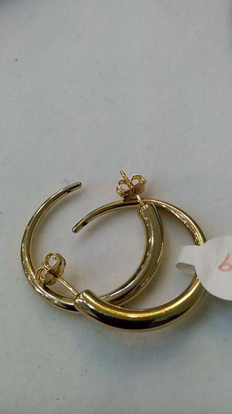 Hoop earrings, lady earrings, yellow Gold, 10 K bvgh