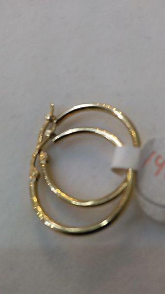 Women Hoop yellow Gold earrings 14 K 64321