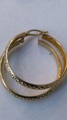 Women Hoop yellow Gold earrings 14 K 643276