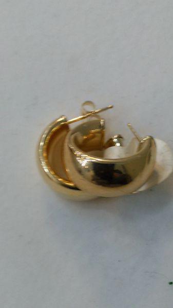 Women Hoop 10 K solid yellow Gold earrings 65389