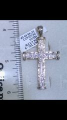 14K Solid Yellow Gold Real Diamond Cross 33926