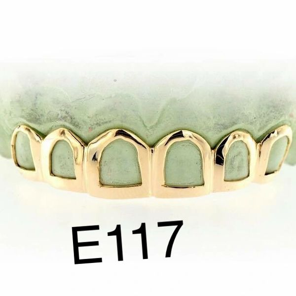 6 open face gold Teeth E117