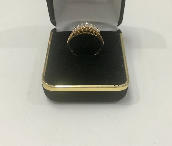 14KT Solid Gold, Real Diamond Lady Rings, E142
