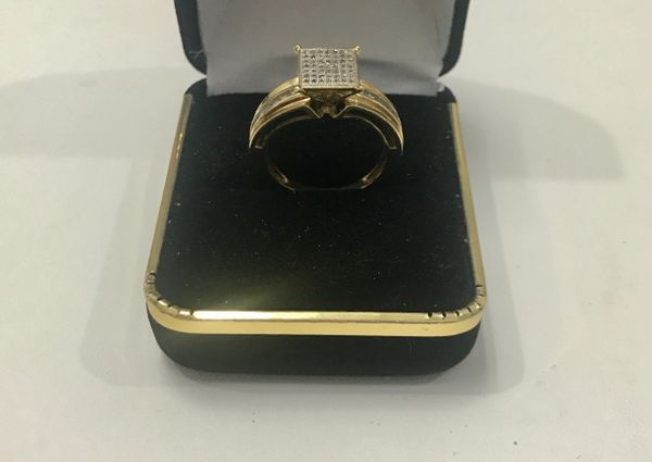 10KT Solid Yellow Gold, Real Diamond Lady Rings, E145