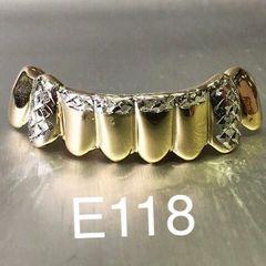 6 Teeth E118, white diamond cuts