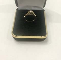 14KT Solid Yellow Gold, Real Diamond Lady Rings, E148