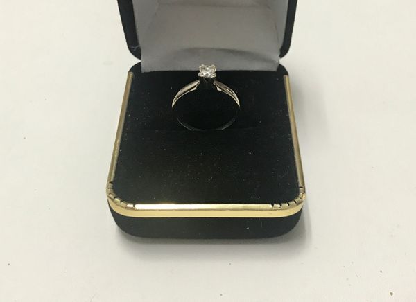 14KT Solid White Gold, Real Diamond Lady Rings, E152