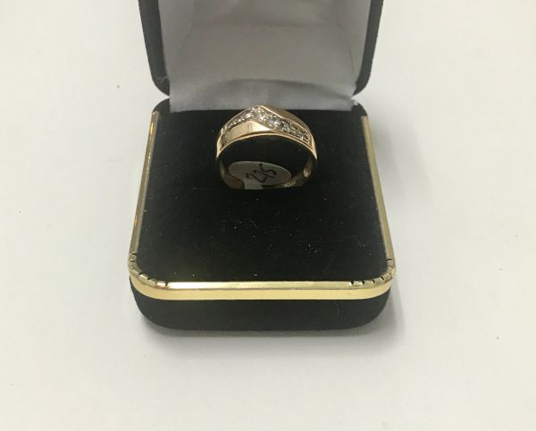 10KT Solid Yellow Gold, Real Diamond Lady Rings, E161