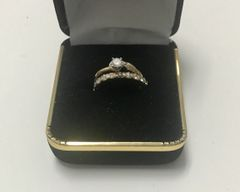 14KT Solid Yellow Gold, Real Diamond Lady Rings, E163