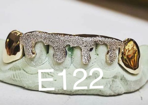 6 Teeth E122-3D Drip with white diamond cuts