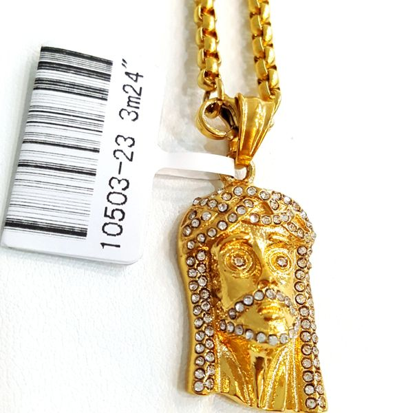 Pure Stainless steel chains and charm gold tone with Crystal's W32994