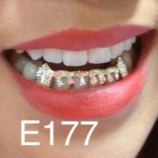 6 Open heat face -E177 gold Teeth