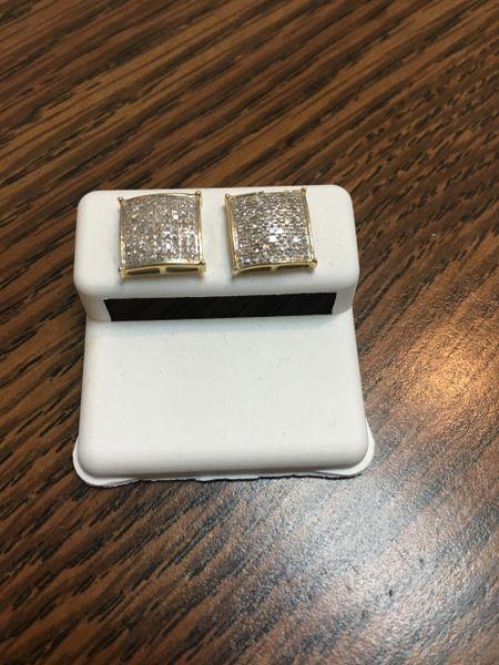 10KT Yellow Gold 0.43 CT Diamond Earring