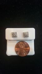 10KT Real White Gold VS1 Diamond Earrings