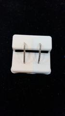 10KT Real White Gold Diamond Earrings