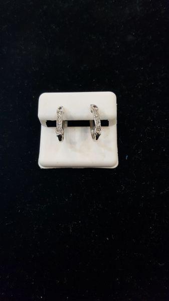Sterling Silver VS1 Diamond Fashion Hoops Earrings