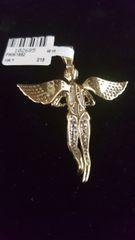10KT Real Diamond Angel Charm