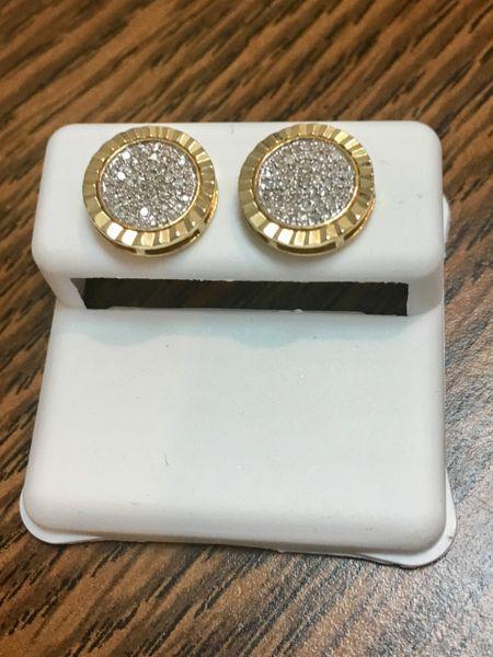 10KT Yellow Gold 0.24 CT Diamond Earring