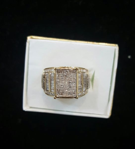 10KT Real Princess Cut Diamond Ring