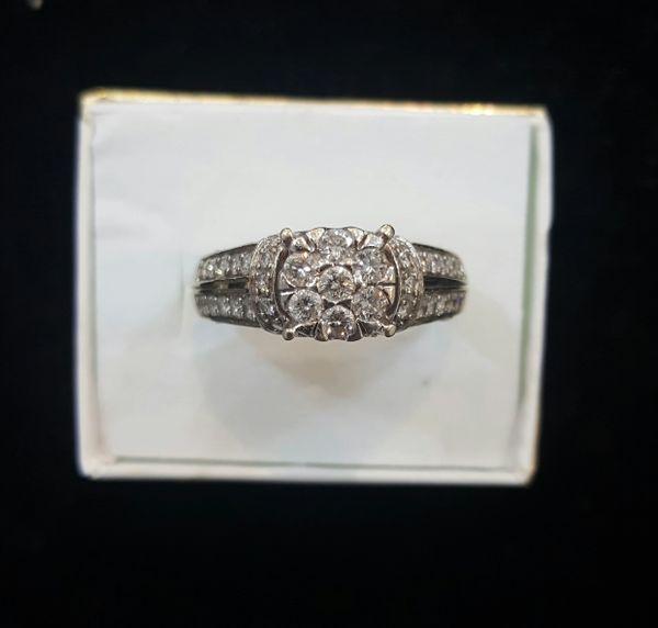 10KT Crown Style Diamond Ladies Ring
