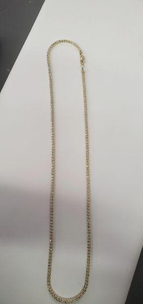 White DIAMOND cut chain