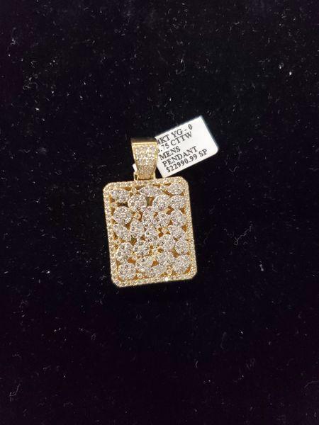 14KT VVS Diamond Charm