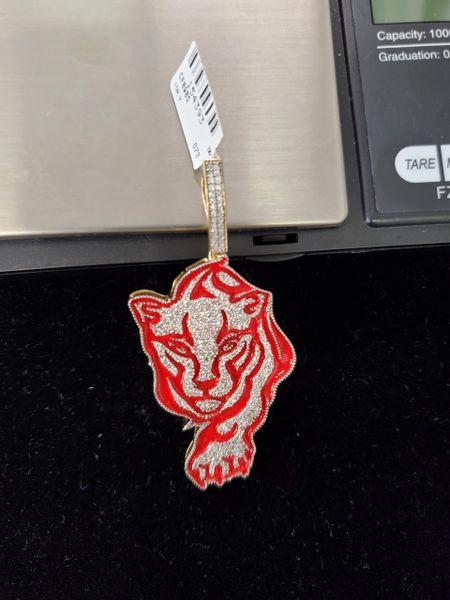 10KT Diamond Tiger Charm