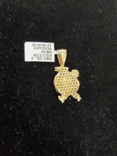 10KT $ Diamond Charm