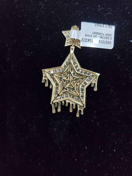 10KT Bugget Diamond Star Drop Charm