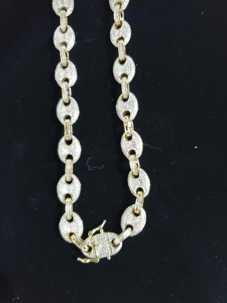 10KT Diamond Gucci Link Chain
