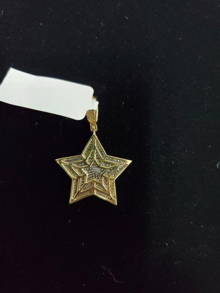 10K Star Diamond Charm