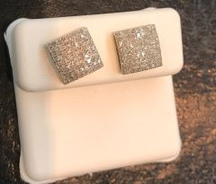 10kt solid yellow gold & real diamonds earring