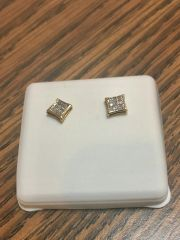 10KT Yellow Gold 1.20 CT Diamond Earring
