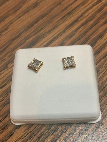 10KT Yellow Gold 1.20 CT Diamond Earring