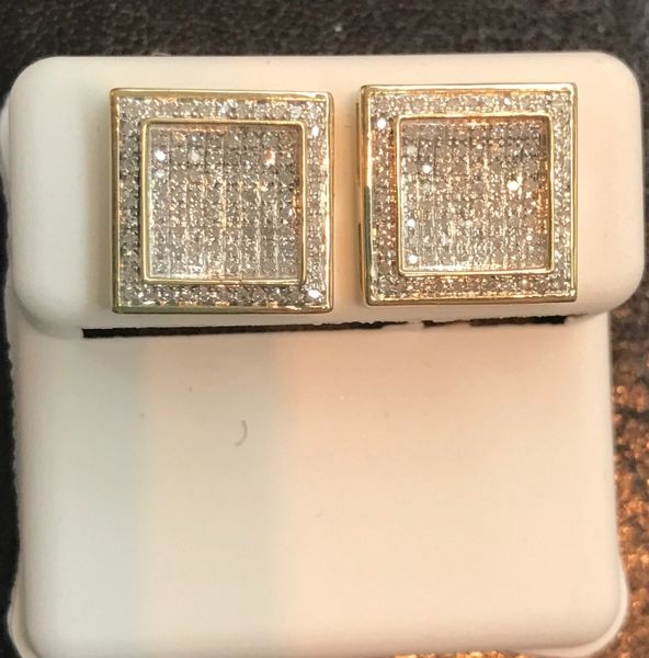 10kt solid yellow gold & natural diamonds