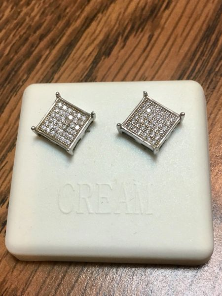 Sterling Silver A0010-09R Screwback Earring