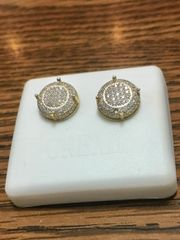 Sterling Silver Yellow Color, A511-11TT Screwback Earring
