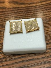 Sterling Silver Yellow Color, A0010-13G, Screwback Earring
