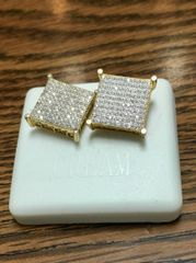 Sterling Silver Yellow Color,A00062-14TT, Screwback Earring