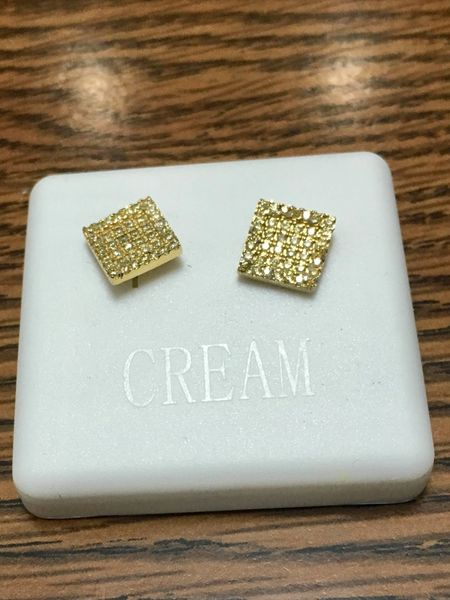 Sterling Silver Yellow Color,A00066-09 YG, Screwback Earring