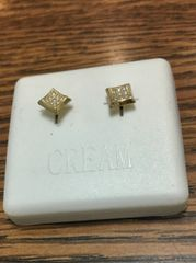 Sterling Silver Yellow Color, A0011-06G, Screwback Earring