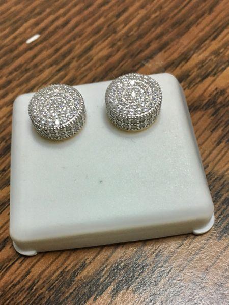 Sterling Silver, 433E4804, Screwback Earring