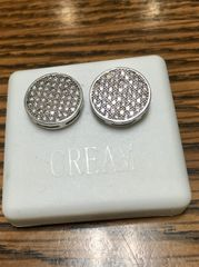 Sterling Silver, A525-13R, Screwback Earring
