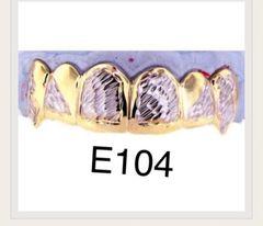 6 Teeth Diamond cuts gold Teeth