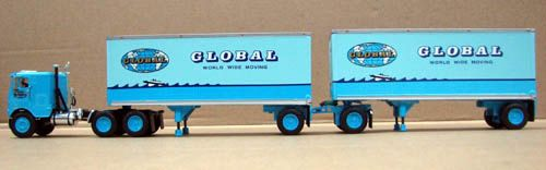 DCP GLOBAL VAN LINES FREIGHTLINER COE WITH 2 DOUBLE PUPS
